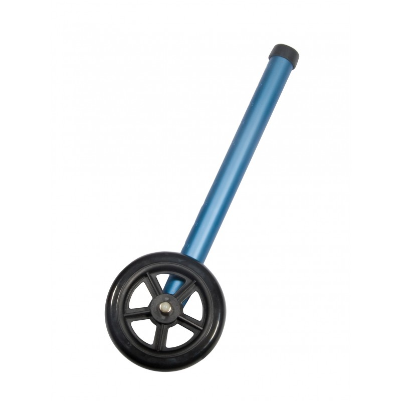 """Walker Wheels with Two Sets of Rear Glides, for Use with Universal Walker, 5"""", Blue, 1 Pair"""