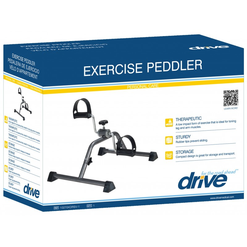 Exercise Peddler with Silver Vein Finish
