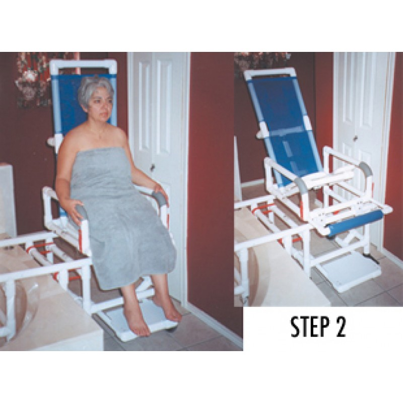 All Purpose Dual Shower Transfer chair, Tilt-N-Space Slider