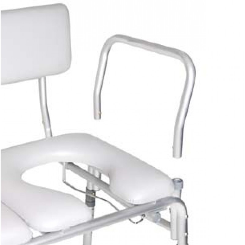 Marvelous Padded Seat Transfer Bench With Commode Opening Ibusinesslaw Wood Chair Design Ideas Ibusinesslaworg