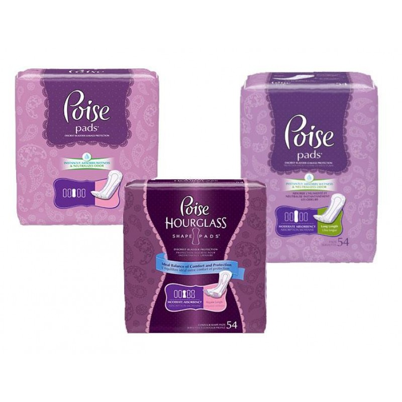 Poise Moderate Pads Hourglass