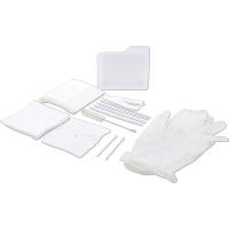 Tracheostomy Care Tray with Vinyl Powder Free Gloves, Sterile