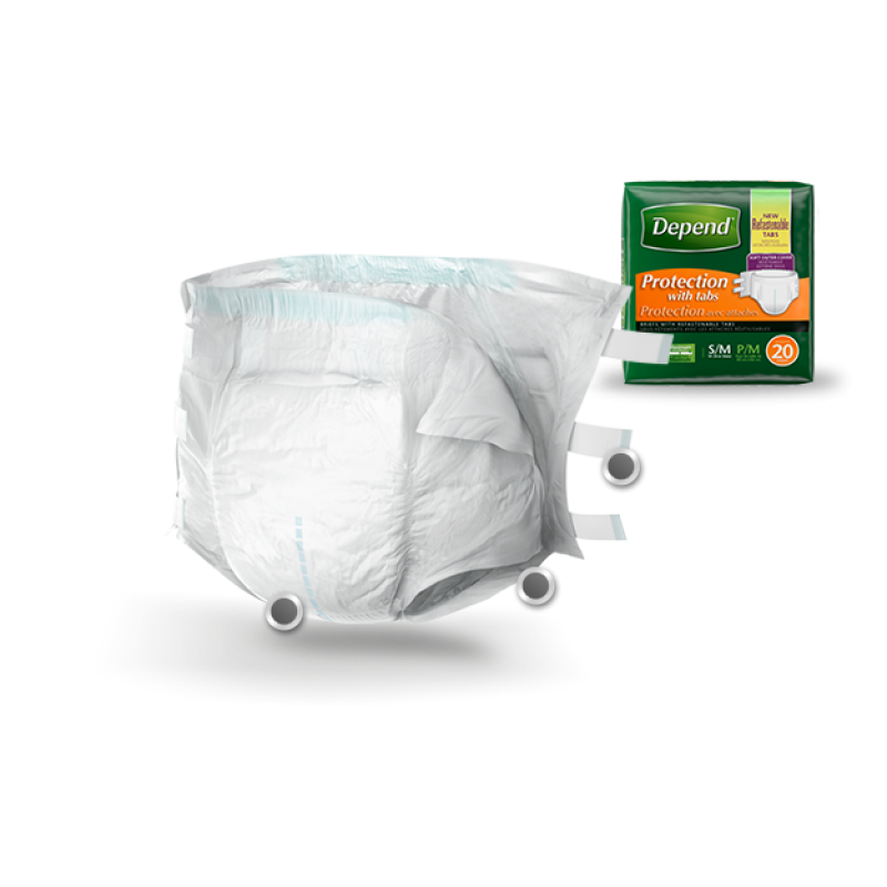 Depend Protection with Tabs Small Medium