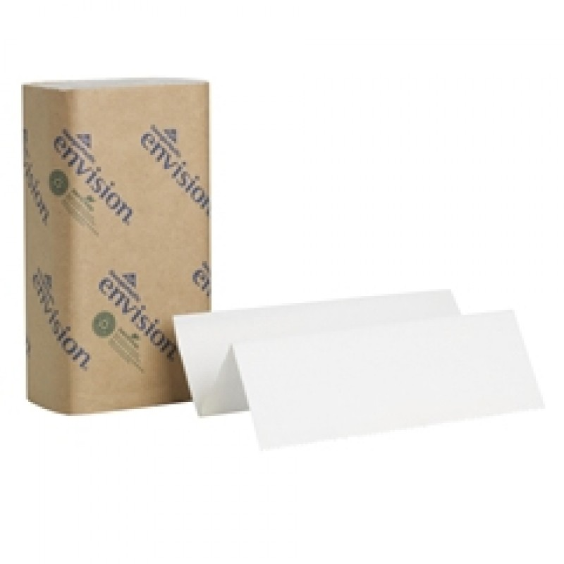 "Envision Multifold Paper Towels White 9.2"" x 9.4''"