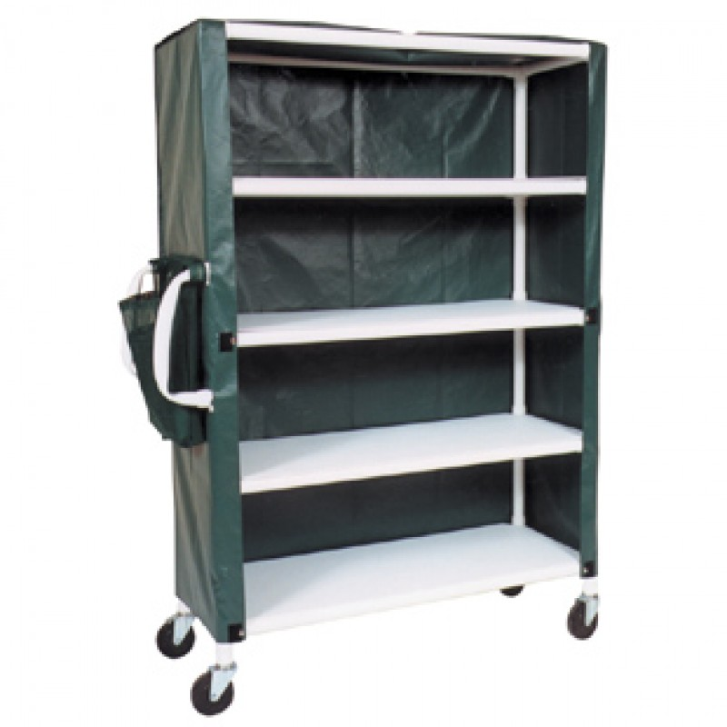 Jumbo Carts with Ergonomic Handle System, Shown With Solid Forest Green