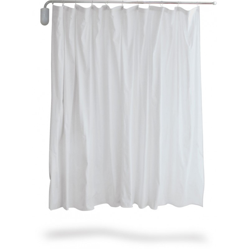 Privess Swing Away Telescopic Curtain with Standard White Vinyl