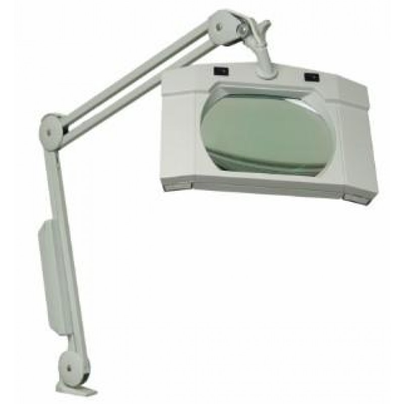 3 Diopter Clear View Illuminated Magnifier Lamp Extended Wall Mount