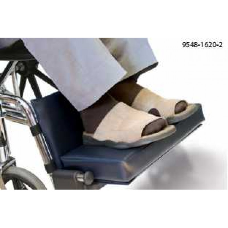 Wheelchair Footrest Extender 2'' with Leg Rest Pad, Fits 16'' - 20'' W/C