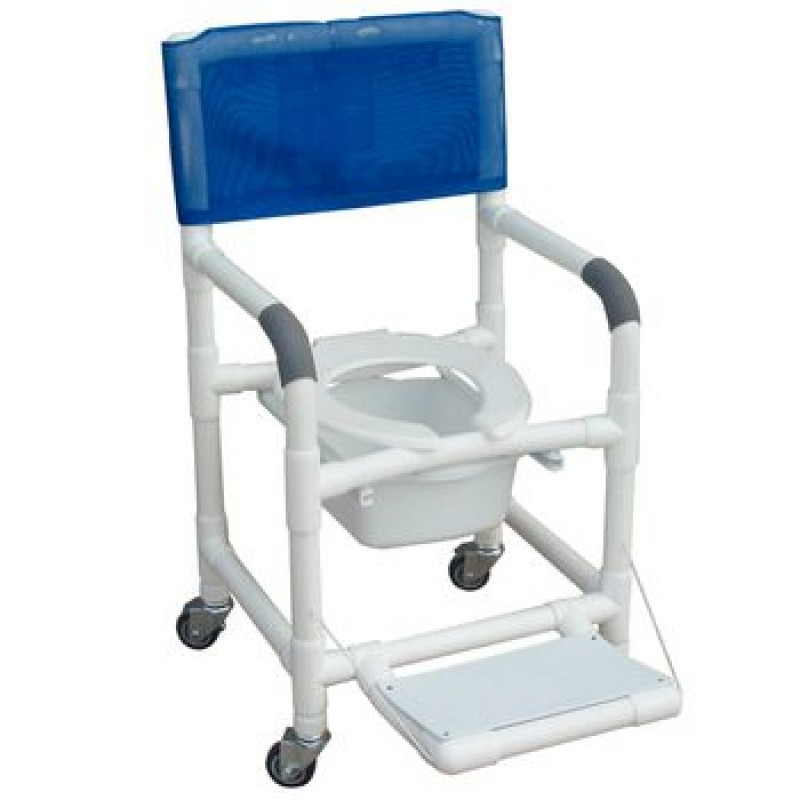 Deluxe Wheeled Shower/Commode Chair