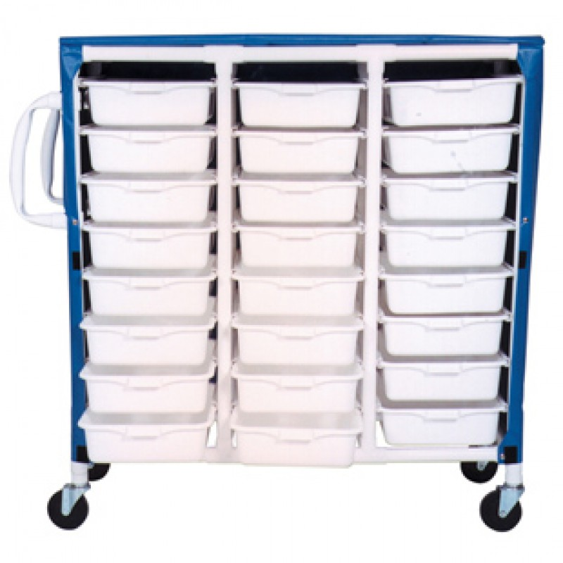 Carts With Ergonomic Handles, Shown With Solid Vinyl Royal Blue