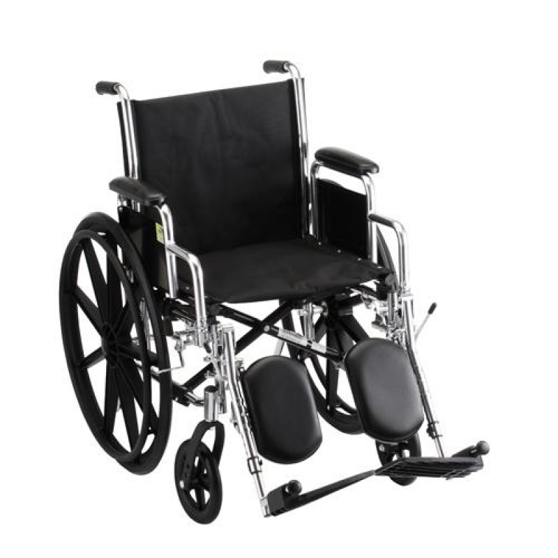 """18"""" Standard Wheelchair Detachable Desk Arm and Elevating Leg Rests"""