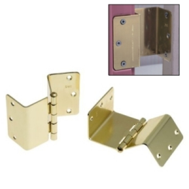 "HealthSmart Expandable Door Hinges Brass 2"" x 3-1/2"""