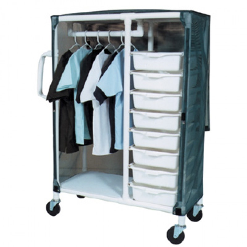 Carts With Ergonomic Handles, Shown With Mesh Forest Green