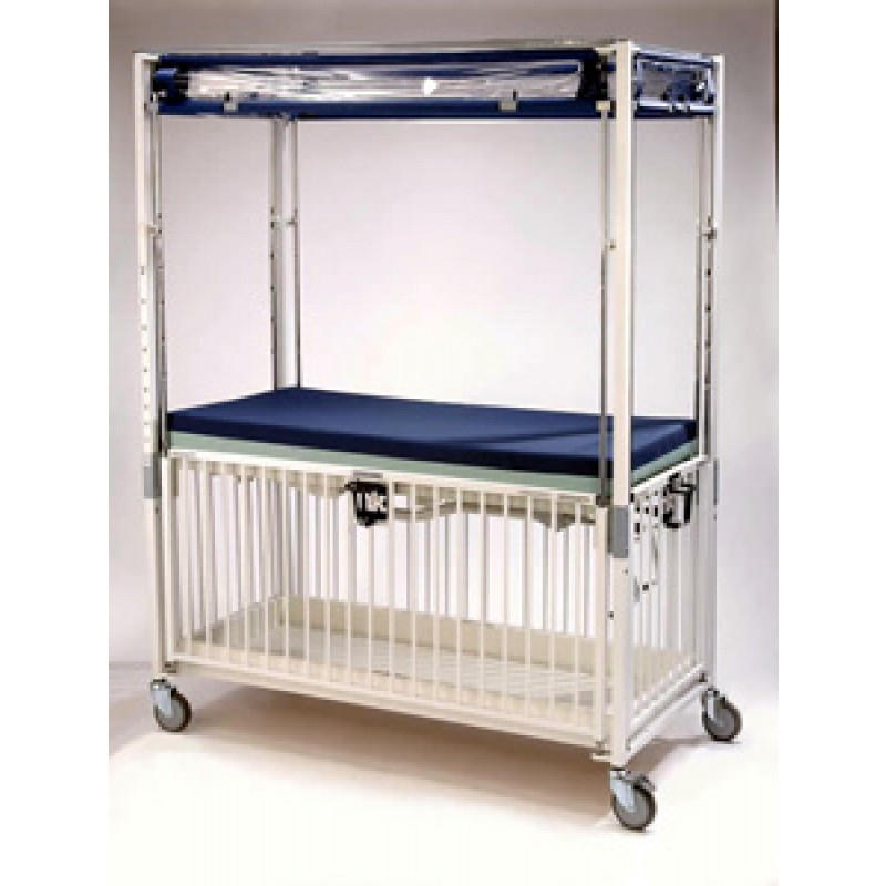 Child Crib, 4 Side Release, Flat Pan, Epoxy