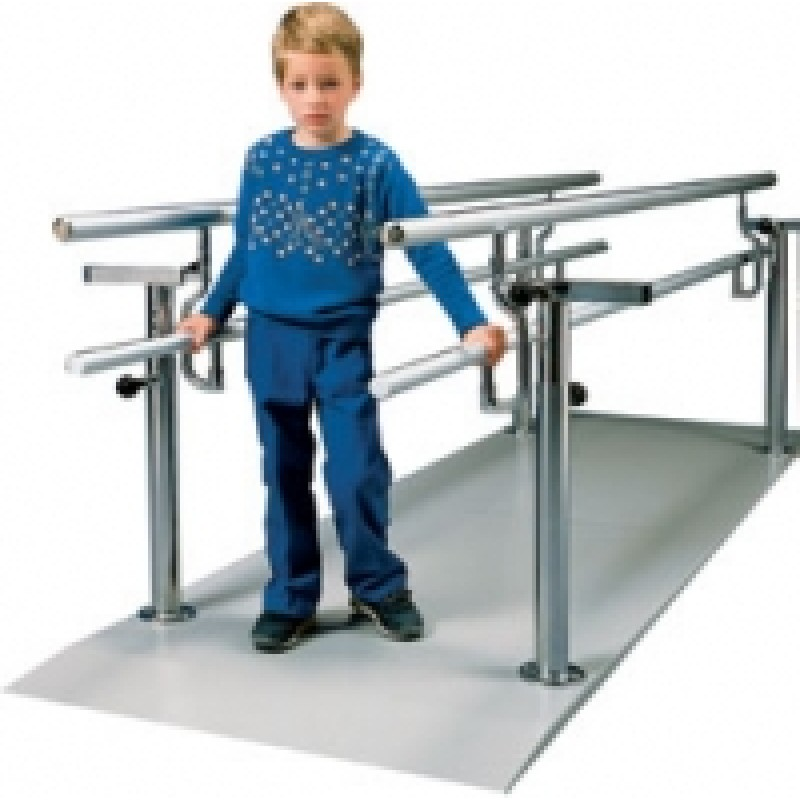10' Bariatric Motorized Height and Width Adjustable Parallel Bar
