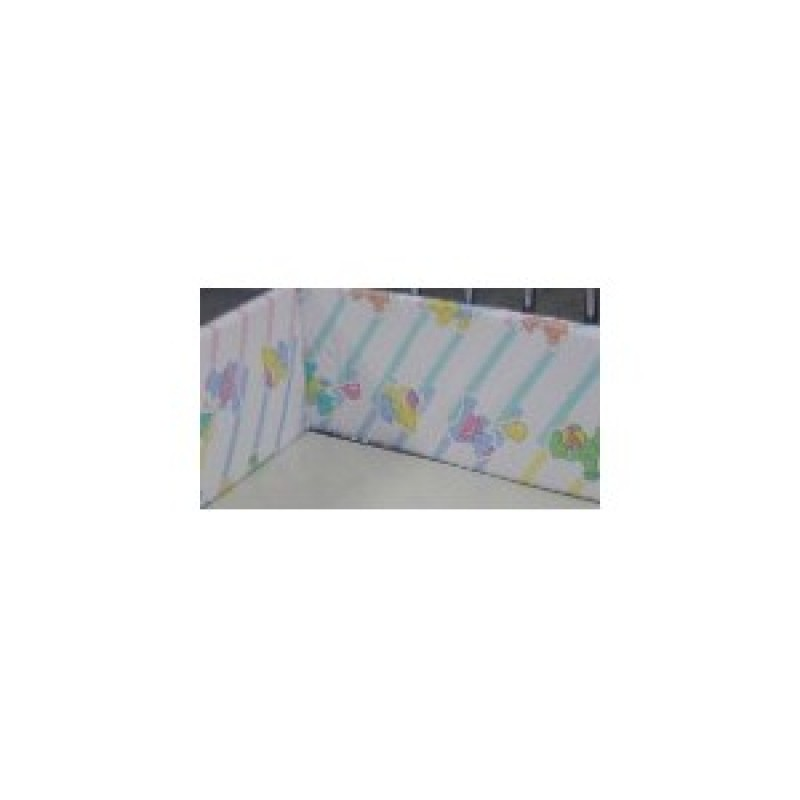 "Hospital Crib Bumper Pads, 1"" x 7"" Foam to fit Neonatal Cribette"