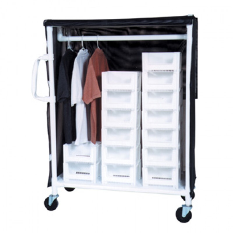 Carts With Ergonomic Handles, Stacking Bins For Total Cart