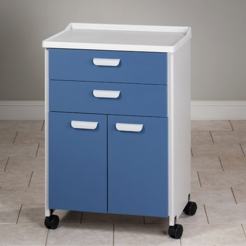 Mobile Treatment Cabinet Molded Top With 2 Doors And 2 Drawers