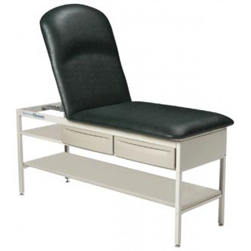 Treatment Table Model 2130, Includes Adjustable Backrest & Shelf, Azure Blue