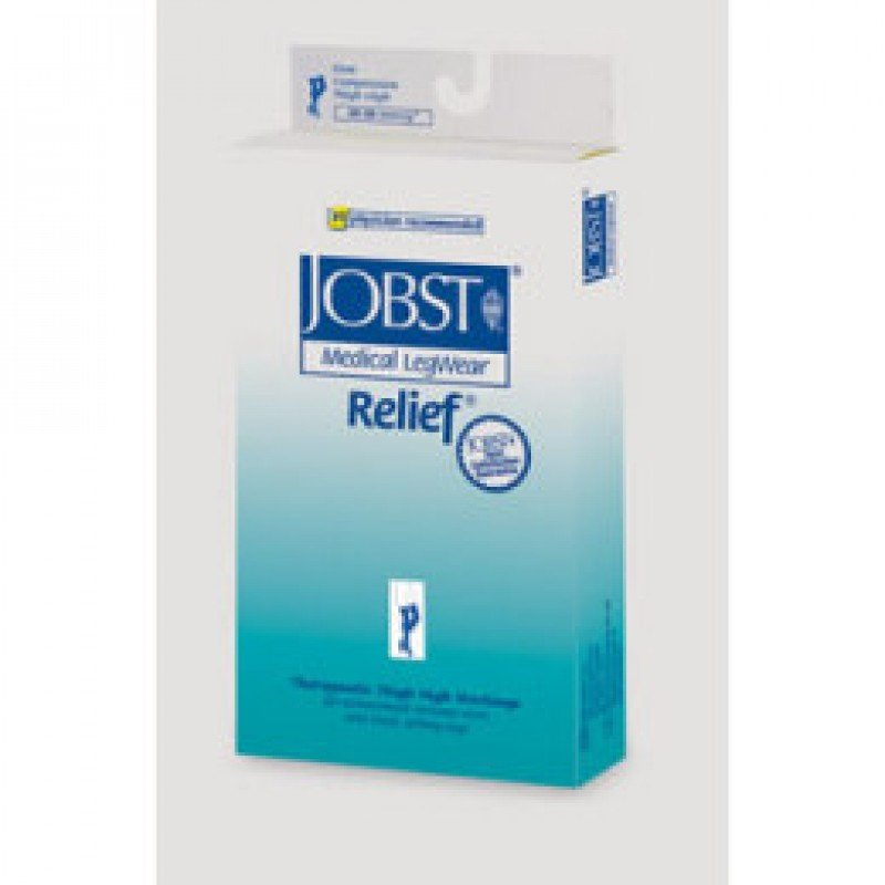 Jobst Relief 20-30 Thigh-Hi Black Small w/Silicone Band