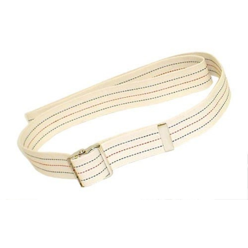 Gait Belt w/Metal Buckle 2x72  Striped