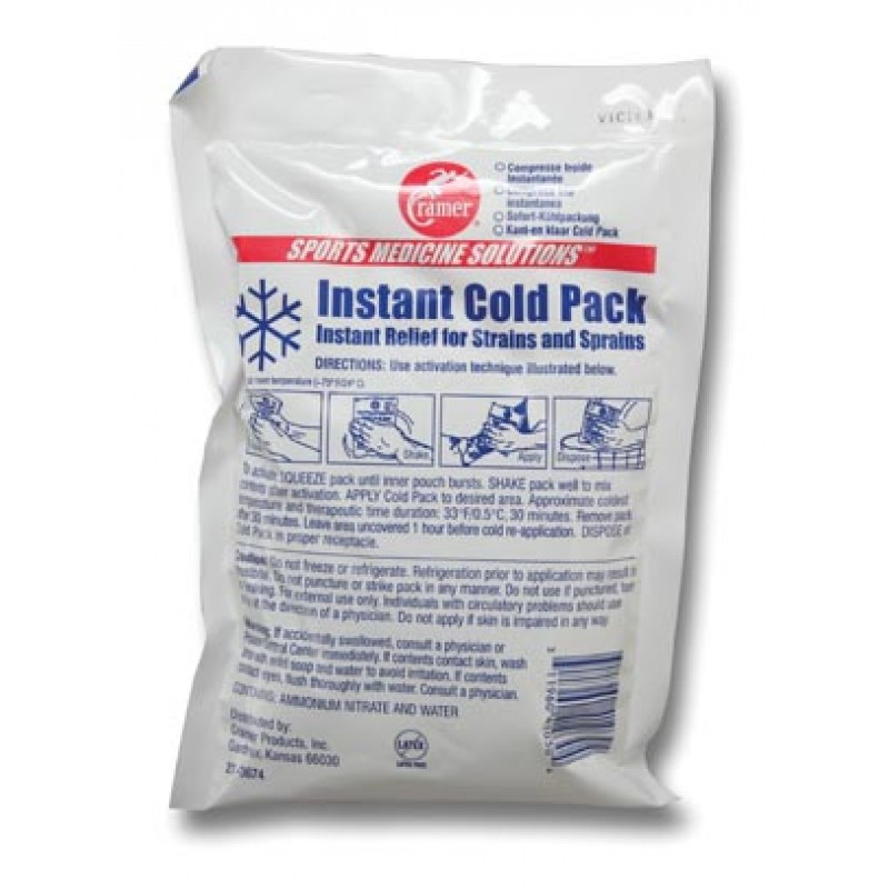 "Instant Cold Pack, 6"" x 9"", 4/pk, 4 pk/bx"