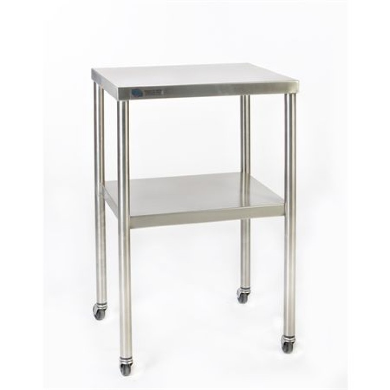 Stainless Steel Instrument Table with Shelf