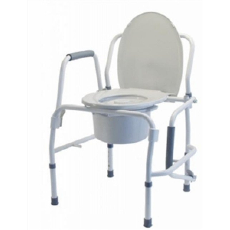 Silver Collection Steel Drop Arm 3 in 1 Commode Grey