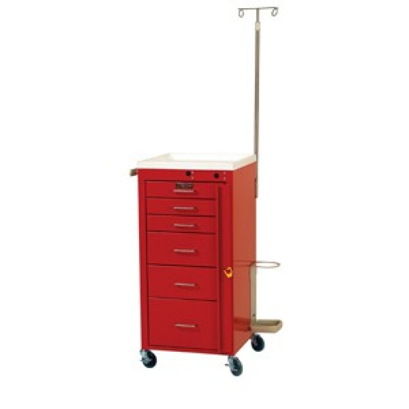 Mini Line Six Drawer Emergency Cart Specialty Package