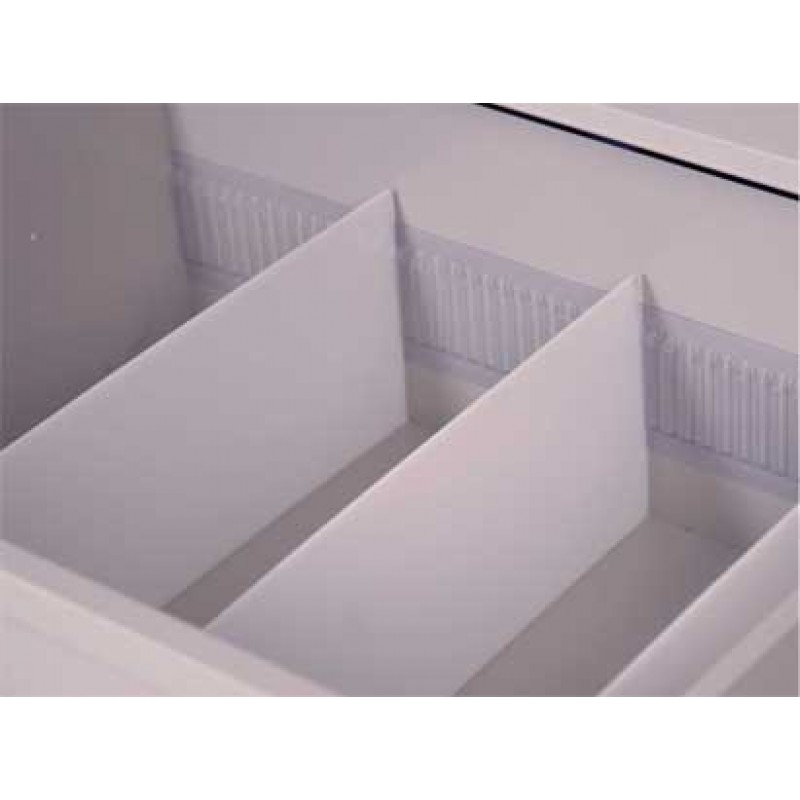 Punch Card Row Dividers Vinyl Strip with Tape, Set of 2