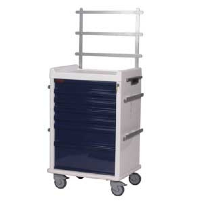 MR-Conditional Seven Drawer Anesthesia Cart Key Lock Specialty Package