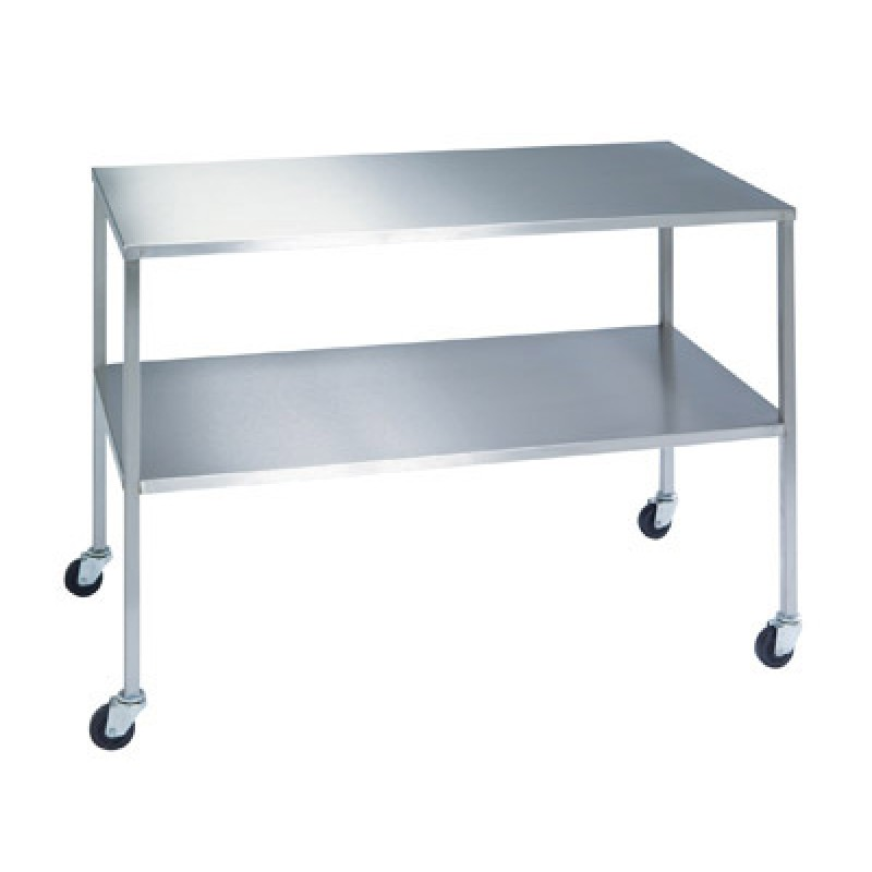 Instrument Table With Shelf