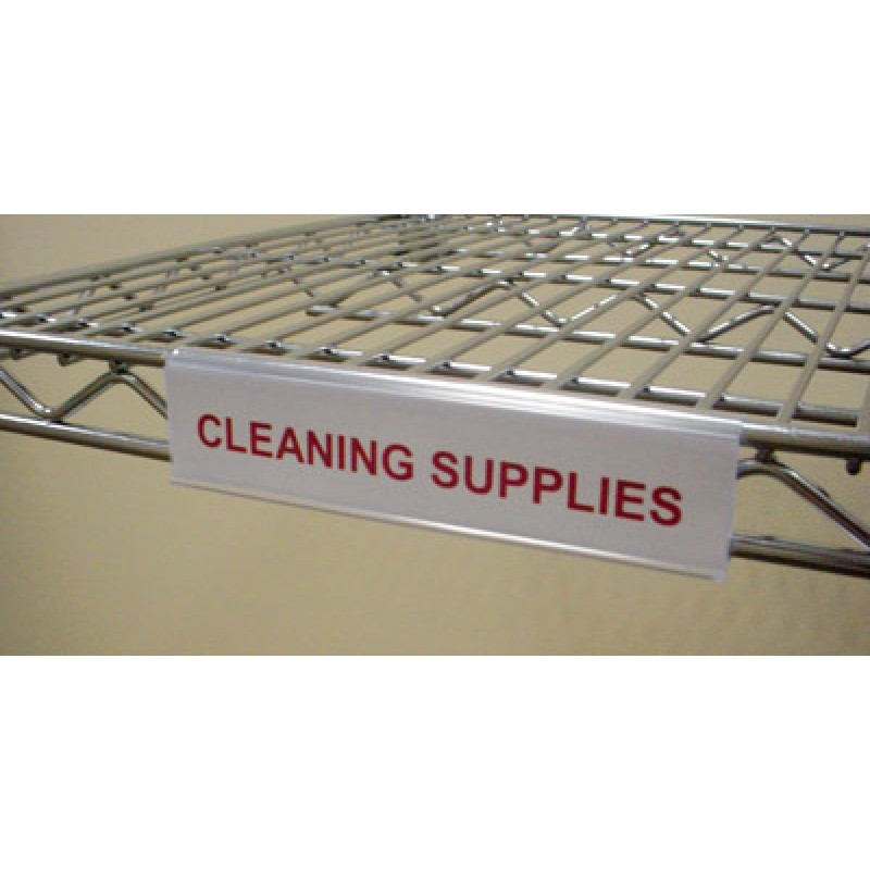 "6"" Wire Shelf Label Holder"