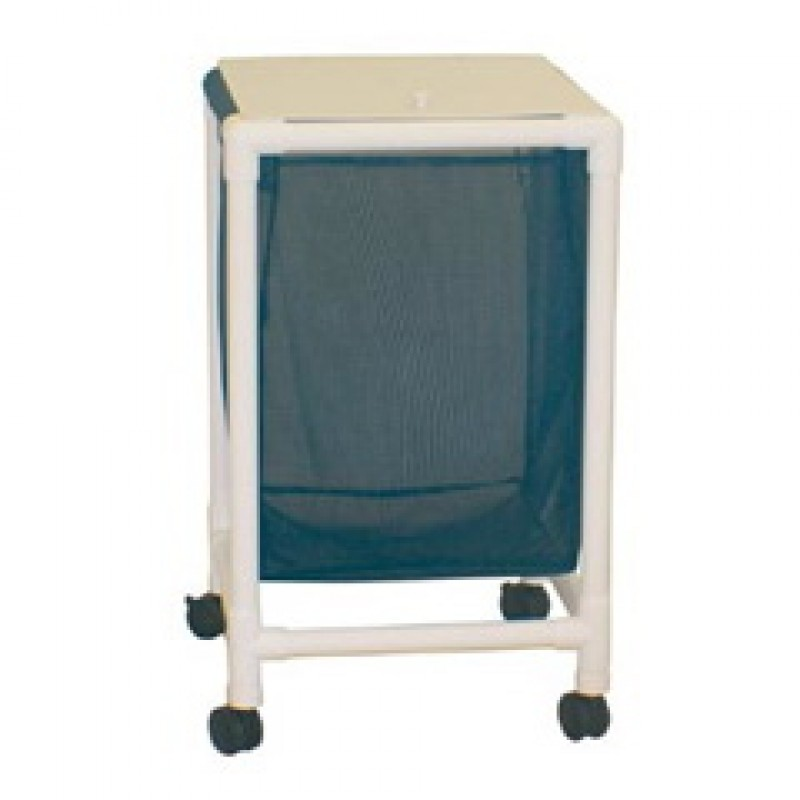 "Echo Single Hamper, Mesh Bags (55 Gal Capacity, Plastic Bag) 2"" Twin Casters Enclosed Mesh Bag"