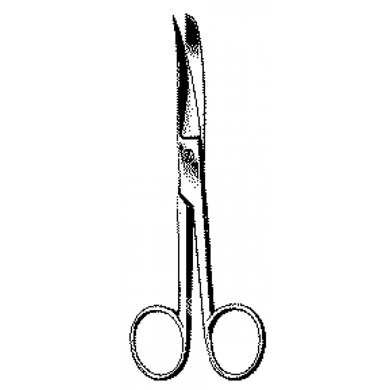 """Operating Scissors 5½"""" Sharp-Sharp Points Curved Carb-N-Sert"""