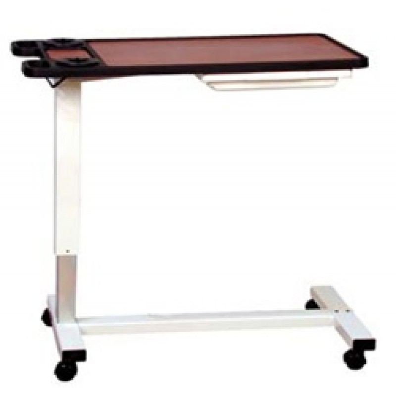 "Overbed Table, Hospital, Split Top, Gas Assist, 18"" x 32"" Top"