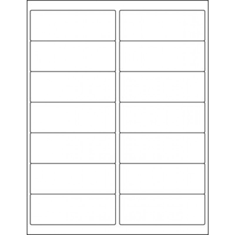 Single Ply Labels, White, On 8