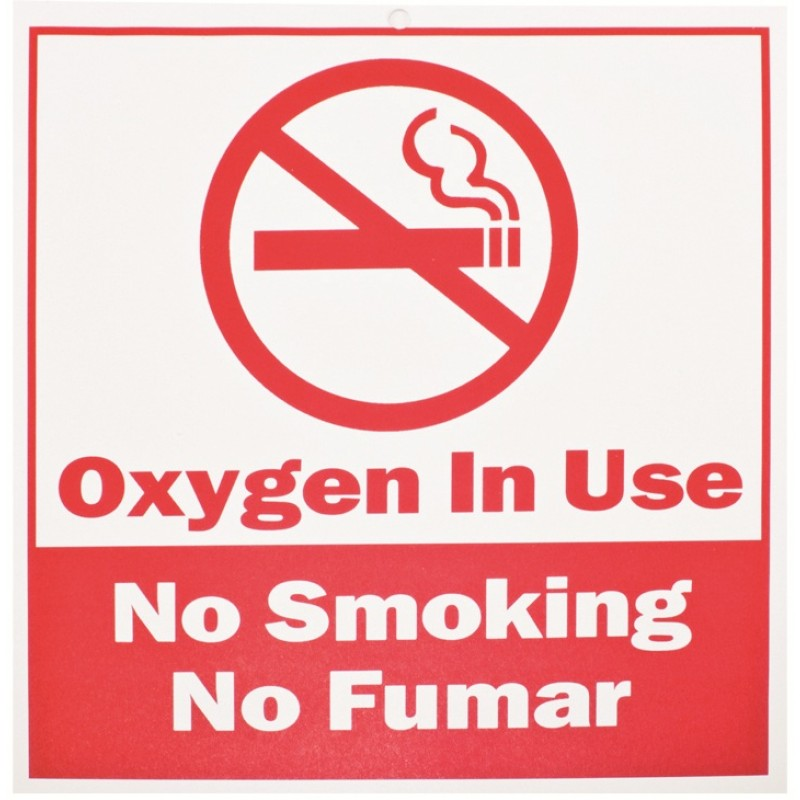 Roscoe Medical No Smoking Oxygen in Use Sign 7.50 inch ...