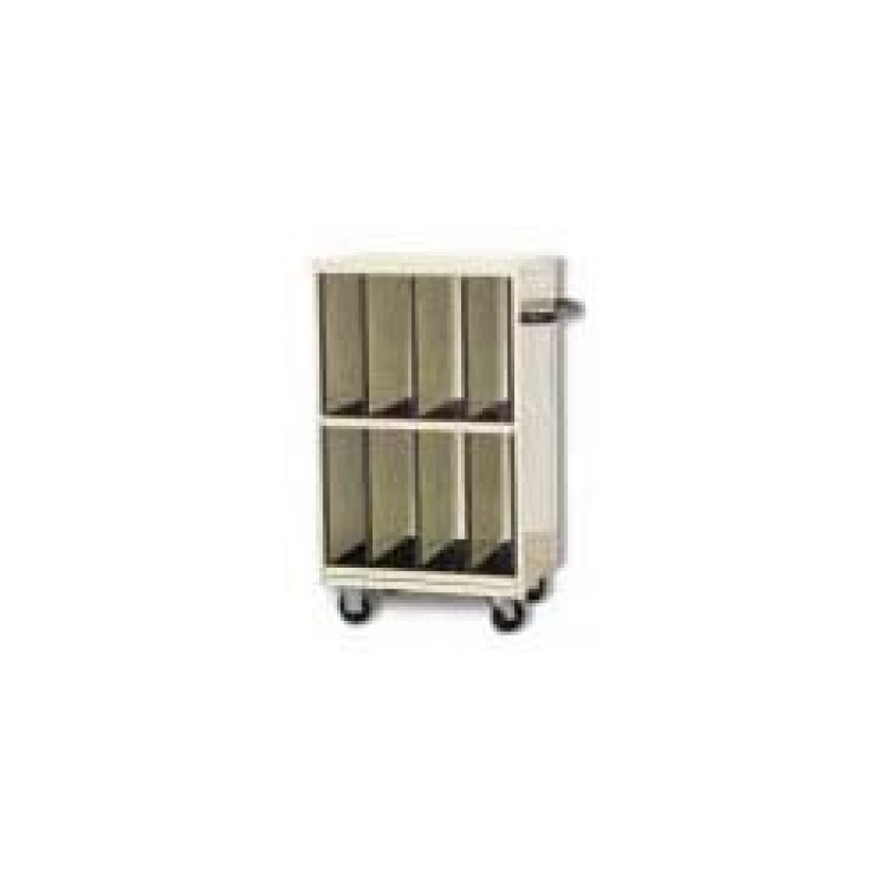 """Cart, Tall CR-Plate, Eight 6"""" Wide Compartments"""