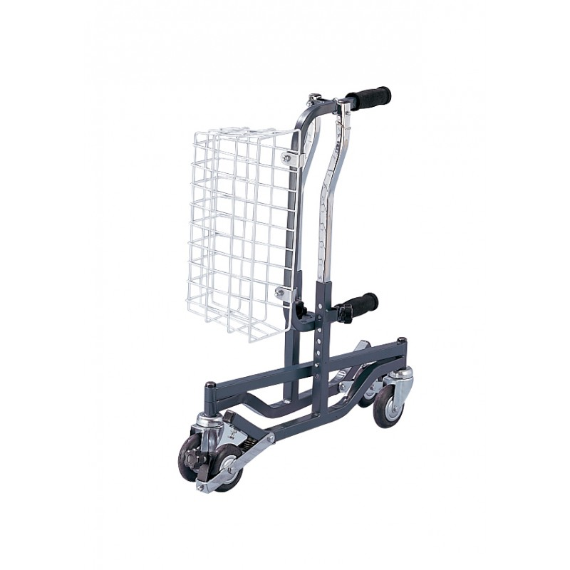 Anterior Rehab Safety Roller, Fixed Width, Adult, Silver Vein