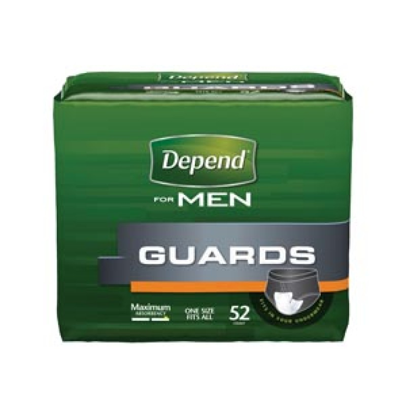 Depend Incontinence Guards for Men for larger surges - Pack
