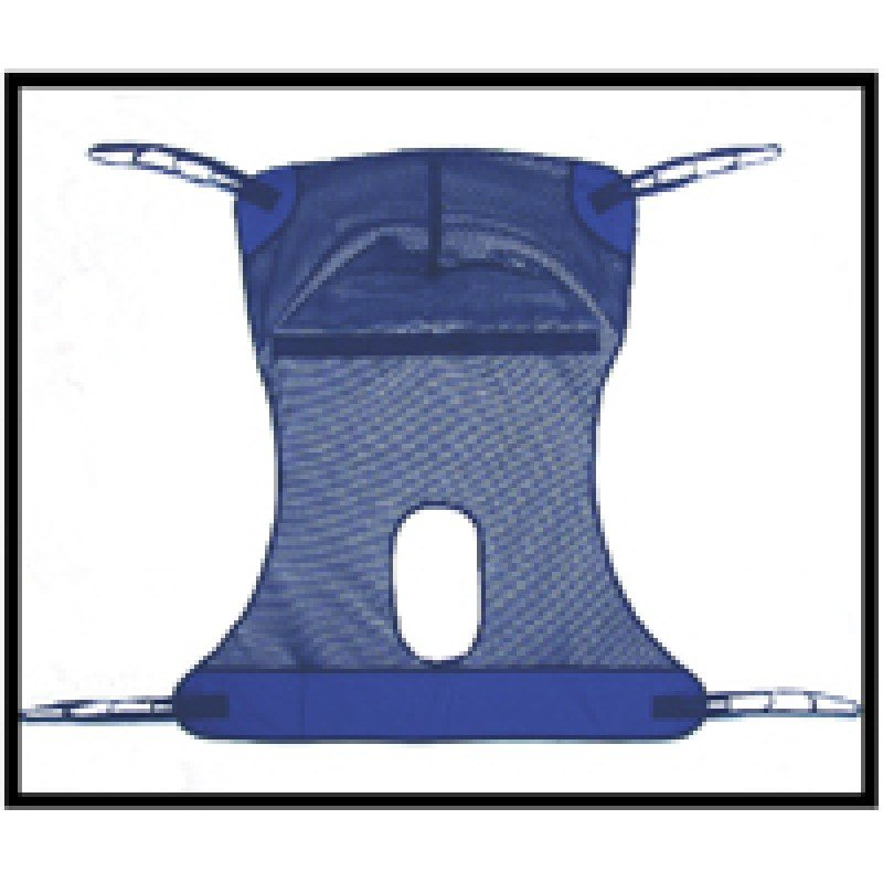 Replacement Sling with Commode Opening, Mesh Full Body, Medium, 450 lb Weight Capacity  (050438)