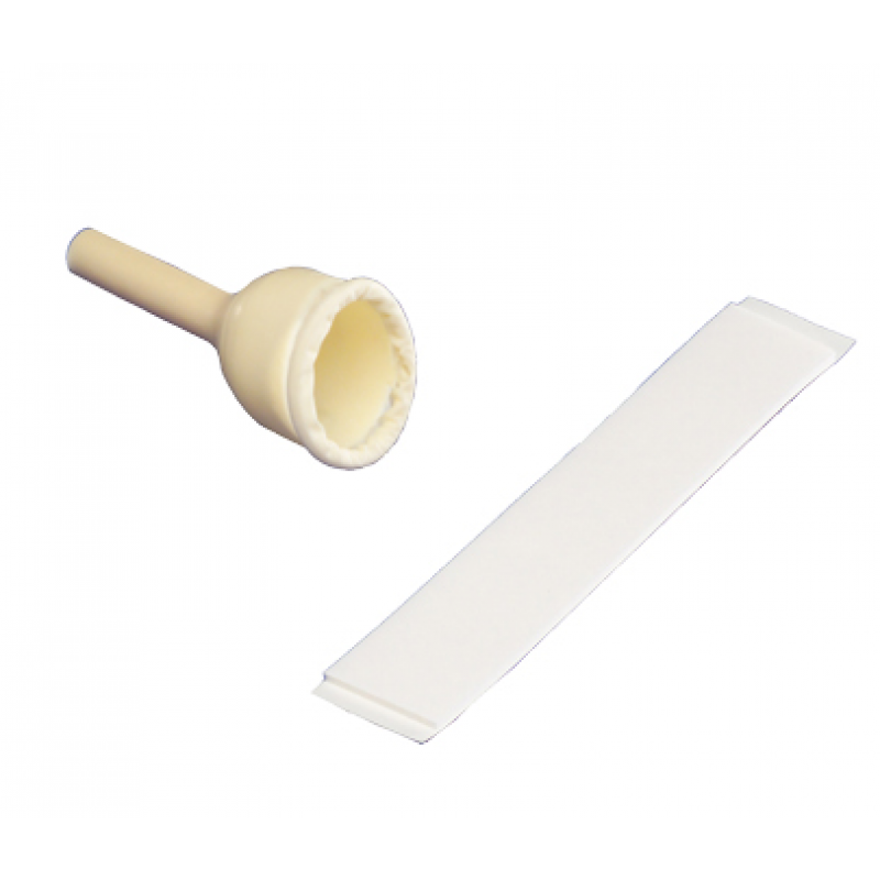 Uri-Drain Double-Sided Adhesive Male External Catheter