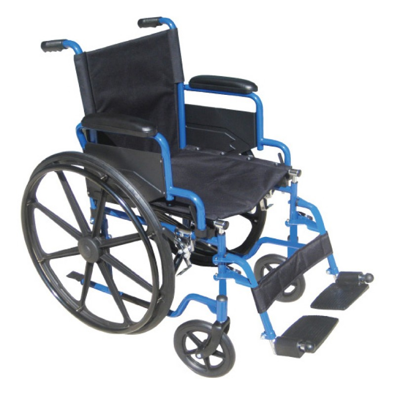 Blue Streak Wheelchair with Flip Back Desk Arms