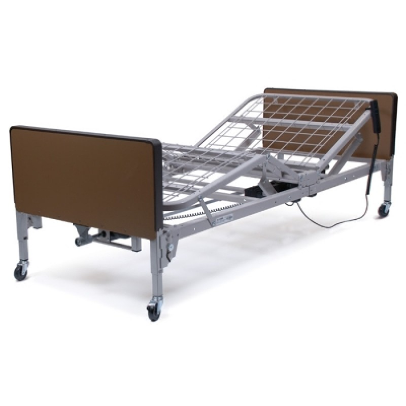 Patriot Full-Electric Bed with 1633-Innerspring Mattress with Foam Sleep Surface and Half No-Gap Rails, Plastic Ends