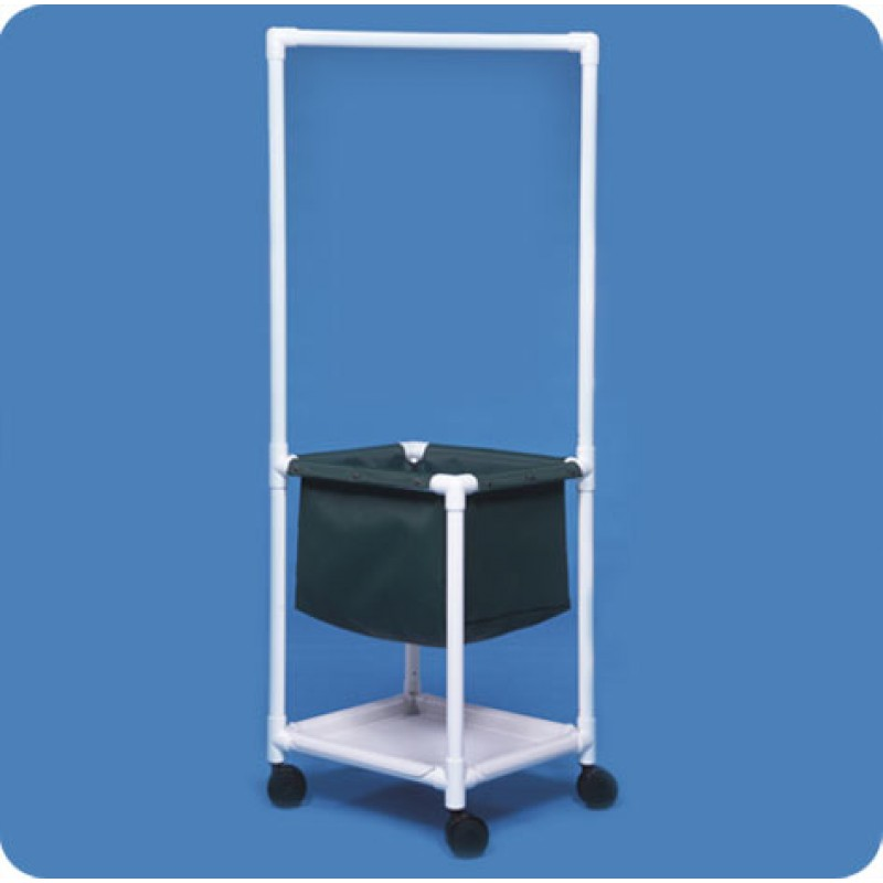 Laundry Hamper with Clothes Rod & Shelf
