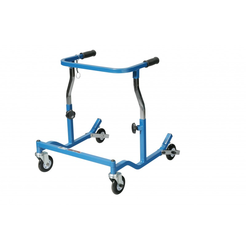 Anterior Rehab Safety Roller, Fixed Width, Pediatric, Blue