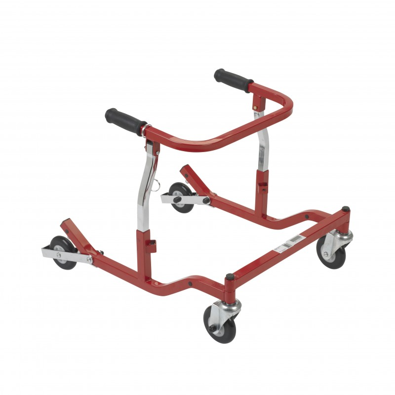 Anterior Rehab Safety Roller, Fixed Width, Tyke, Red