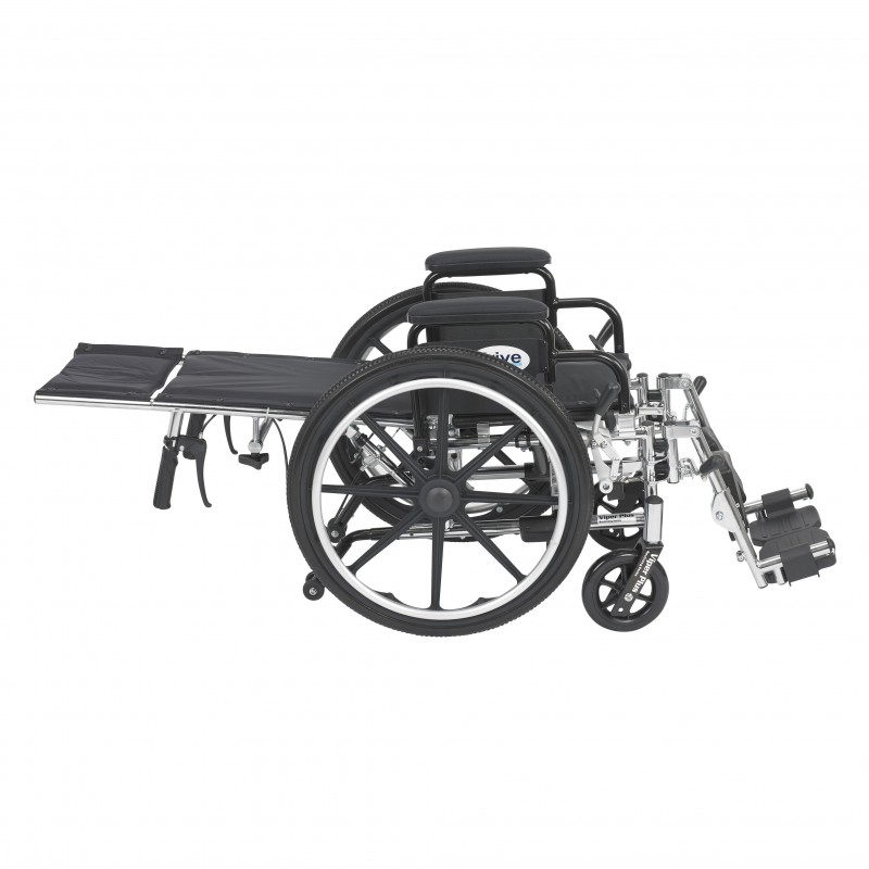 "Viper Plus Light Weight Reclining Wheelchair with Elevating Leg Rests and Flip Back Detachable Arms, 14"" Seat"