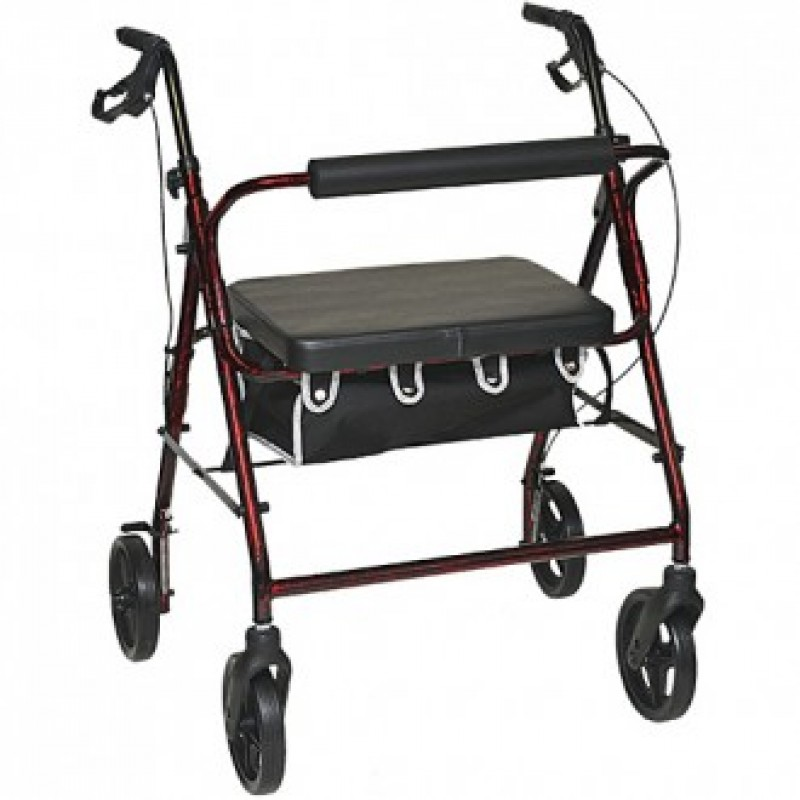 Bariatric Rollator with Blue Flame Finish